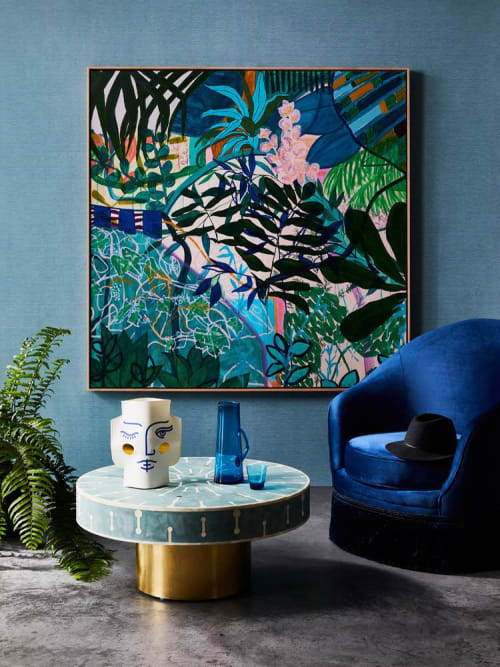 Paintings by kate mayes art seen at Private Residence, Torquay - So Glad You Made It - Print