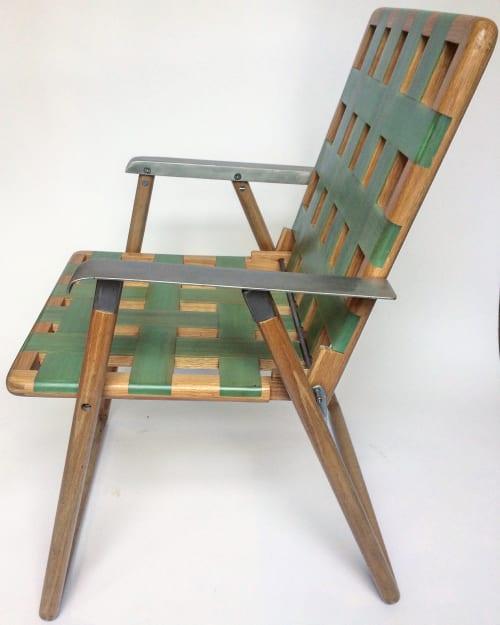 Chairs by Brian David Johnson seen at Cloud Tree Studios, Austin - Lawn Chair Catharsis