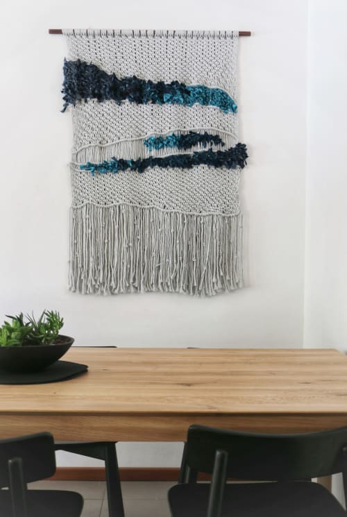 Macrame Wall Hanging by Creating Knots by Mandy Chapman seen at Creator's Studio, Karrinyup - The Blue Divide Macrame