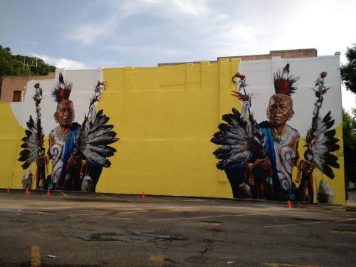 Street Murals by Pepe Gaka seen at Hot Springs, Hot Springs - Quapaw