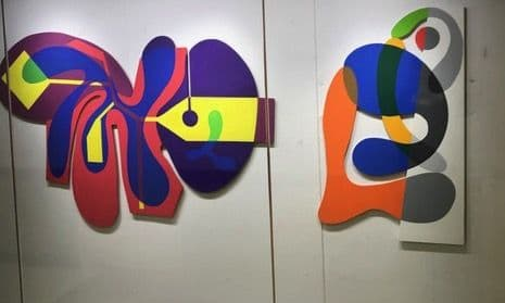 Paintings by Fred Bendheim seen at 333 Westchester Ave, White Plains - 5 Shaped Paintings