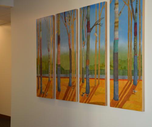 Paintings by Open Eye Art seen at Legacy Mount Hood Medical Center, Gresham - Legacy Mount Hood Medical Office Building