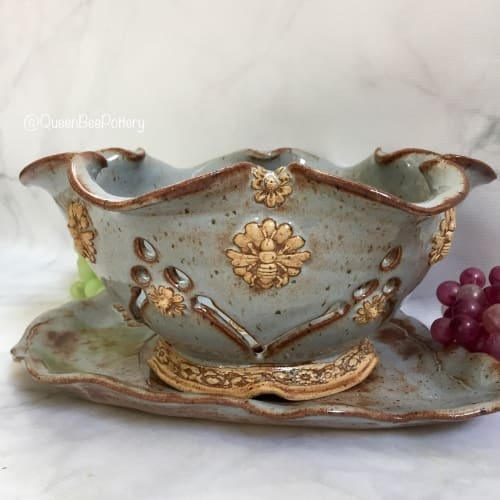 Tableware by Queen Bee Pottery seen at Private Studio - Bee Berry Bowl