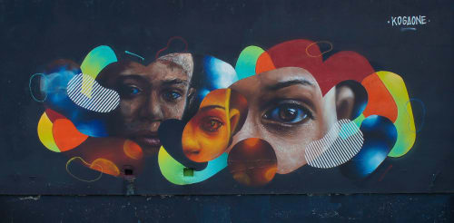 Street Murals by Kogaone seen at Quartier Chemin Vert - Europe à Reims, Reims - Wall fort the Millwall Project