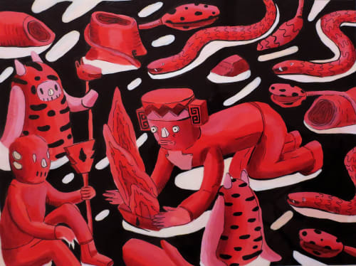 Paintings by Martin Ferreyra seen at Mexico City - Canvas & prints
