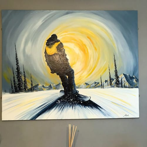 Paintings by Shred-Art by Stuart Leonard seen at Private Residence - 'Light Chaser'