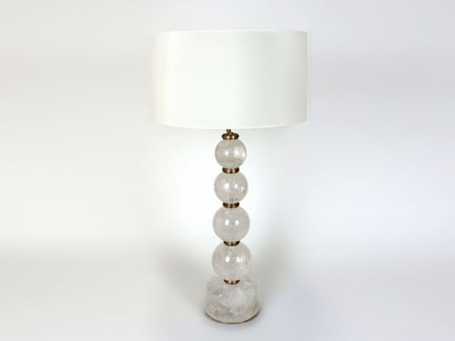 Lamps by Ron Dier Design seen at Palm Beach, FL, Palm Beach - Rock Crystal Lamps