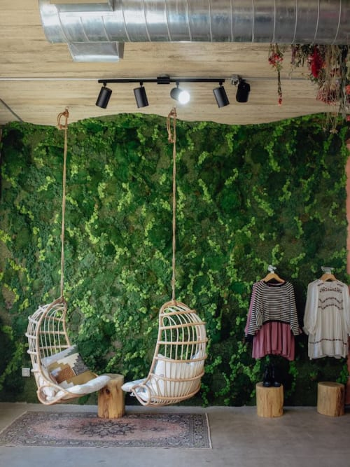 Wall Treatments by Emily Barton Design seen at Clad & Cloth Warehouse, Provo - Moss Wall
