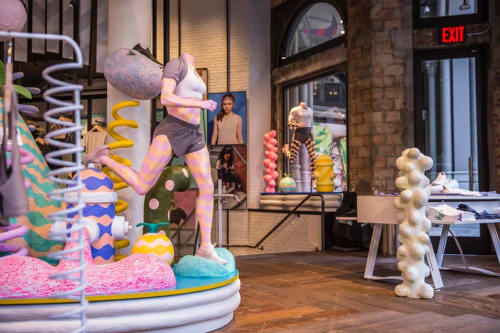 Sculptures by CHIAOZZA seen at Nike Running, New York - Nike Flatiron Epic React