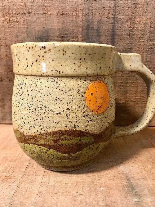 Cups by Honey Bee Hill Ceramics seen at Creator's Studio, Rockport - Hillside Mug, Handmade stoneware