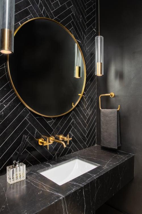 Interior Design by Julie Geyer Studio LLC seen at Private Residence, Bethesda, Bethesda - Powder Room