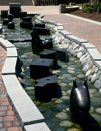 Public Sculptures by Gloria Bornstein seen at Eastern Washington University, Cheney - From One to Z