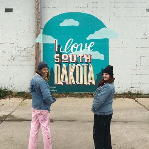 Murals by Pandr Design Co. seen at Brookings, Brookings - I love South Dakota Mural