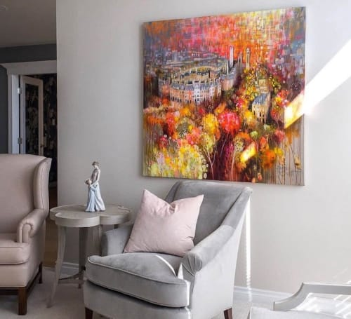 Paintings by BLYTHE SCOTT seen at Private Residence, Edmonton - 'Glasgow Kiss'