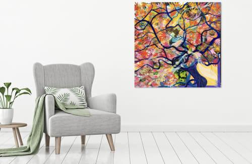 Paintings by Leda Daniel Art Studio seen at Private Residence, Whanganui - The Wishing Tree