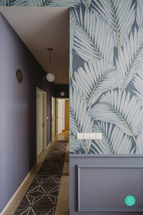 Wallpaper by LayerPlay seen at Private Residence, Singapore - Patricia Braune's Island Frond