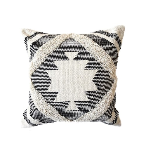 Pillows by Coastal Boho Studio seen at Private Residence - Serene Kilim Pillow Cover