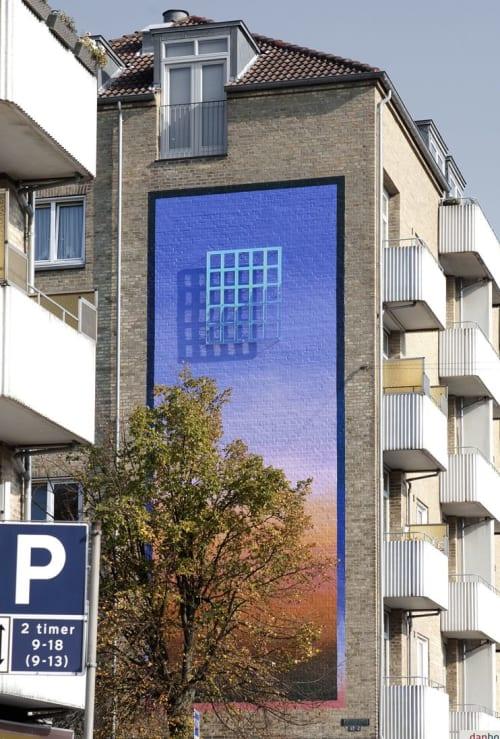 Street Murals by SHJWORKS seen at Copenhagen, Copenhagen - Twilight Objects