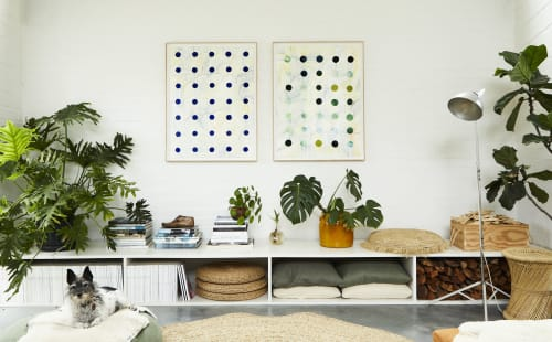 Paintings by Ruth Le Roux seen at Private Residence, Piedmont - Dots I 30x40 inches print