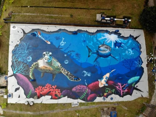 Murals by SEPC seen at Manizales, Manizales - Ocean