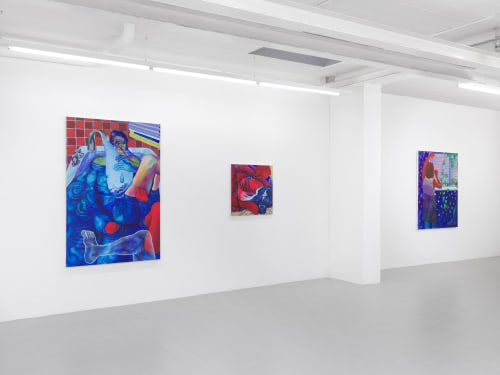 Paintings by Lynnea Holland-Weiss seen at Sébastien Bertrand Gallery, Genève - Solo Exhibition at Galerie Sébastien Bertrand