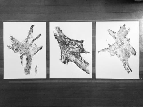Set of 3 Tree Root Prints | Public Art by Erik Linton