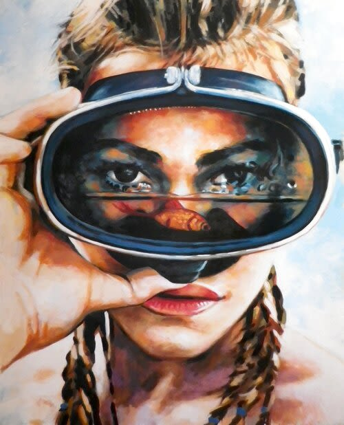 Paintings by Thomas Saliot seen at Private Residence, New York - Scuba Gal