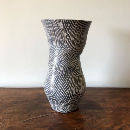 Vases & Vessels by Laura Huston seen at Private Residence, Houghton - Large stoneware vase