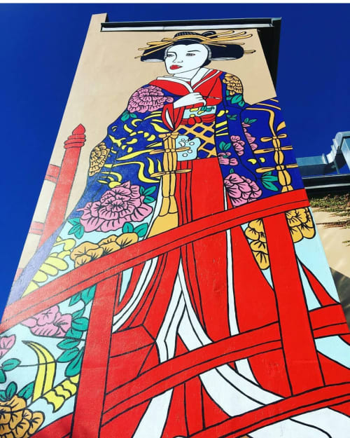 Street Murals by Elysha Rei seen at Gallery Lane, Toowoomba City - Toowoomba Geisha