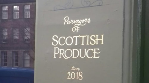 Signage by Journeyman Signs (TATCH) seen at Nauticus, Edinburgh - Leaf Gold Sign Writing