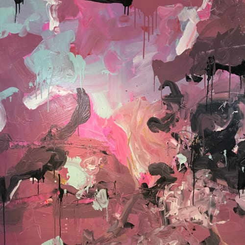 Paintings by Nino Yuniardi seen at Seattle, Seattle - Bubble gumbo jumbo