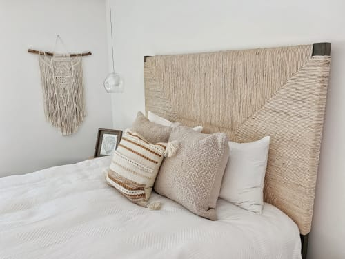 Macrame Wall Hanging by Love Wild Soul seen at Private Residence, San Diego - Large Macrame Wall Hanging / Tribal Design / Natural