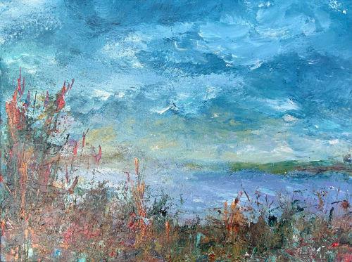 Paintings by Mireille Laroche seen at Creator's Studio, Ottawa - Summer Ease