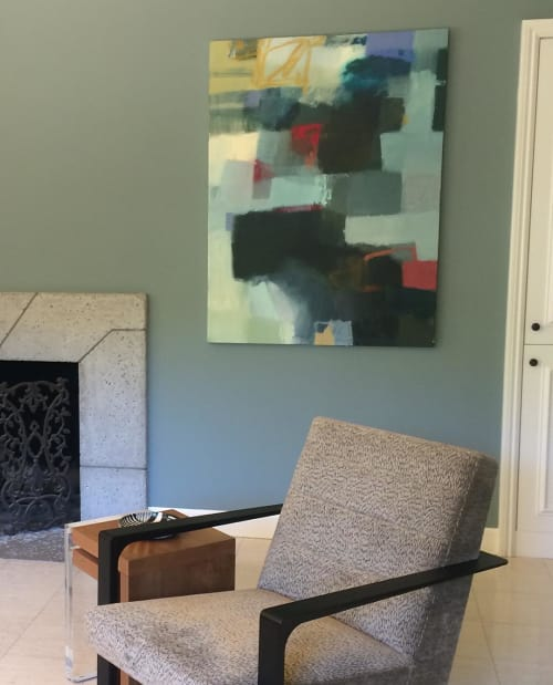 Paintings by Sharon Paster at Private Residence, San Rafael - San Sebastián