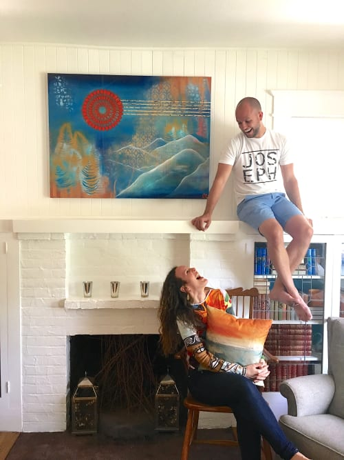 """Paintings by Catalina Garreton seen at Private Residence, Walla Walla - Commission Painting """"Brave"""" - Walla Walla, WA"""