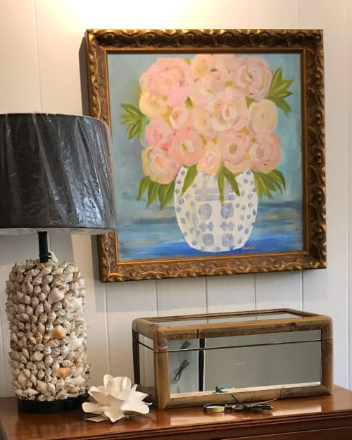 Paintings by Catherine White Art seen at Private Residence, Vero Beach - Lady