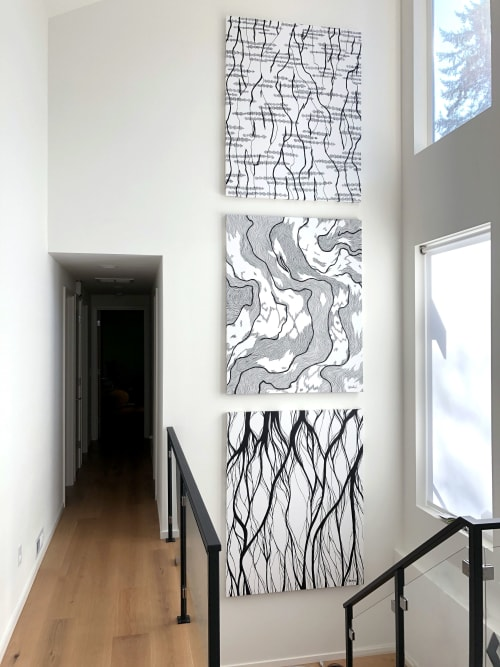 Paintings by Stillo Noir seen at Private Residence, Seattle - Washington Triptych