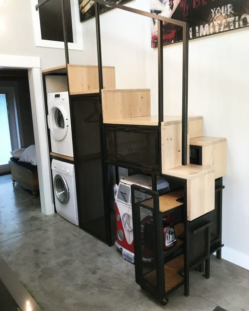 Furniture by Jacob Lichtenwalner seen at Private Residence, Portland - Custom Storage Cabinet