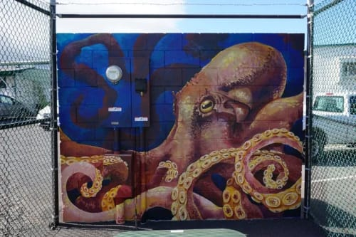 Street Murals by Joey Rose at Sonny Vick's Paving Inc., Wailuku - TAKO