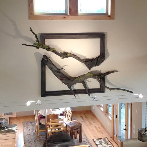Sculptures by Darryl Cox of Fusion Frames NW at Private Residence, Bend - River