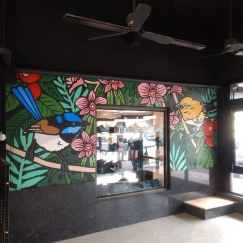 Street Murals by Mel McVee seen at Mount Lawley, Mount Lawley - The Tropical Air
