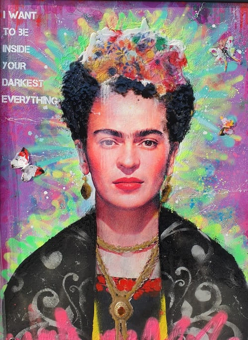 Paintings by Dan Pearce seen at Private Residence, Beckenham - Frida Commission