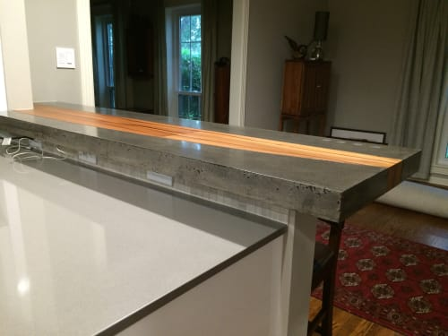 Furniture by ARDEZEN seen at Private Residence, Bellaire - Custom Concrete Countertop