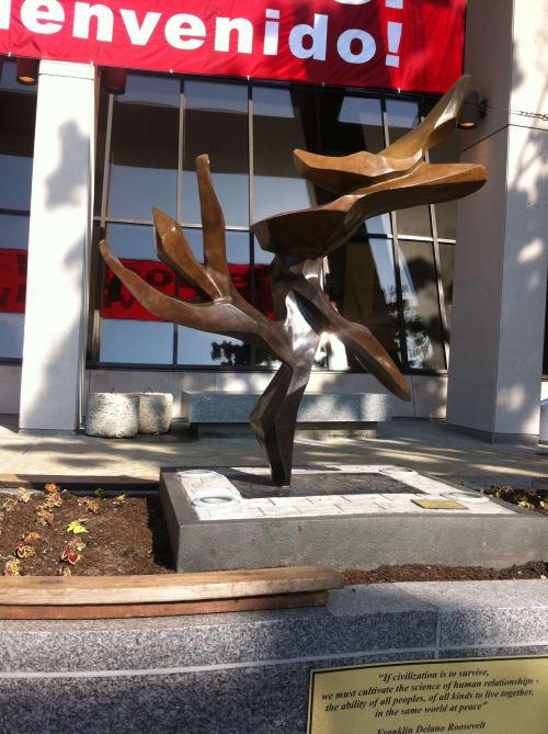 Public Sculptures by Hedva Ser seen at Temple university, Philadelphia - Tree of Peace