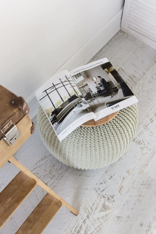 Tables by Chasha Home seen at Private Residence, Las Vegas - Coffee Table - Pouf