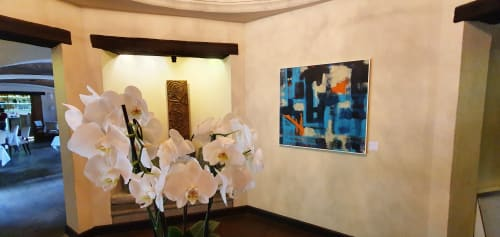 Paintings by Mod Cardenas seen at El Convento Boutique Hotel Antigua Guatemala, Antigua Guatemala - Elevacion - original painting on canvas