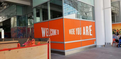 Street Murals by Mission Ceramics seen at Salesforce Transit Center, San Francisco - Welcome to where you are