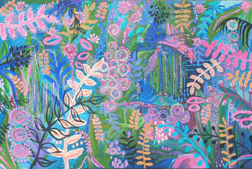Paintings by Sharon Hegarty Art seen at Private Residence, Sunshine Coast - Hello Rainforest