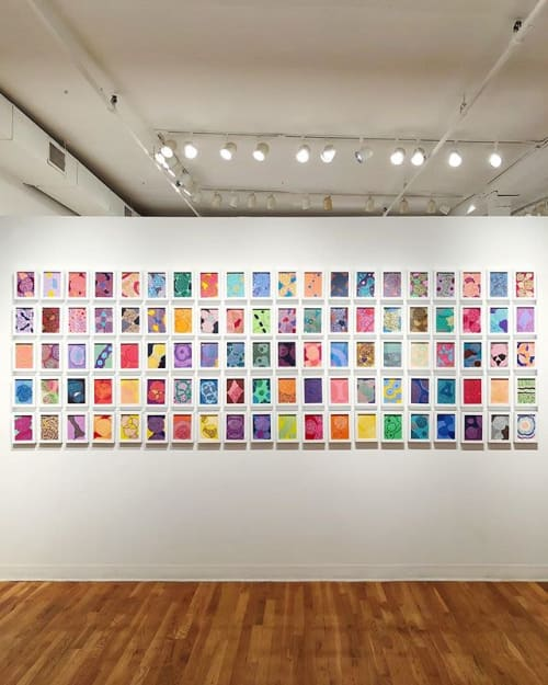 Paintings by Fiona Chinkan seen at Pleiades Gallery, New York - 100 Day Project