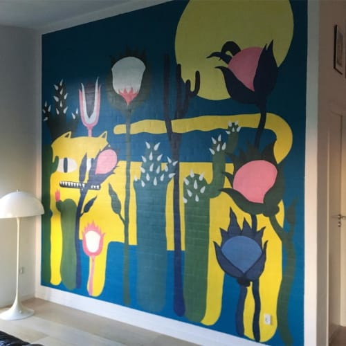 Murals by Matilde Digmann seen at Private Residence, Todbjerg - Indoor Mural